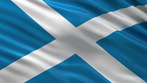 Flag of Scotland seamless loop Animation