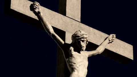 Crucifix Rotation stock footage