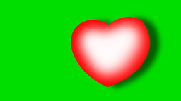 FLOATING HEART ICON stock footage