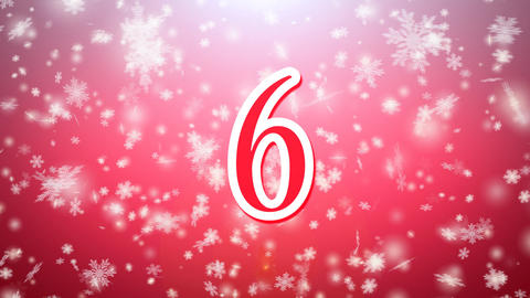 Countdown Rotate In In Snow Falling With Modern Re stock footage