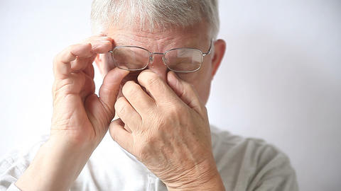 man with irritation from glasses nose pads Live Action