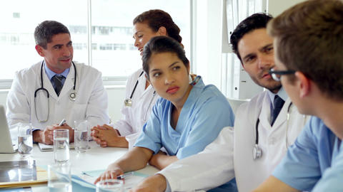 Medical team having a meeting Footage