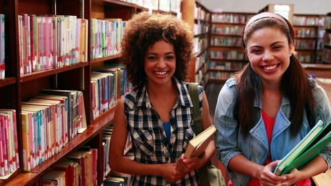 Smiling students laughing and smiling at camera in Footage