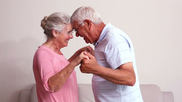 Senior Couple Hugging stock footage