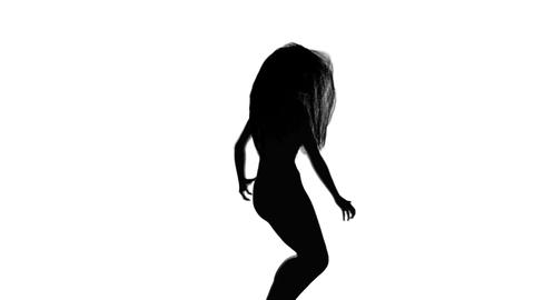 Dancing Girl Silhouette Animation