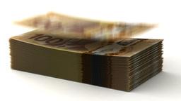 Money Fall Canadian Dollar Animation
