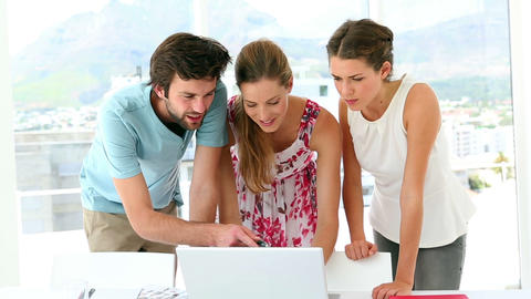 Team Of Designers Having A Meeting stock footage