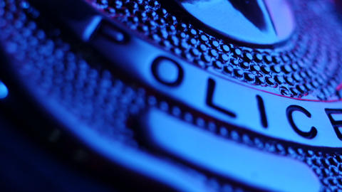 Stock Footage Police Badge Flasher Light Macro Sou Footage