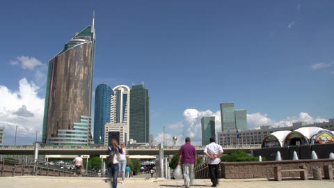 Walk On Astana stock footage