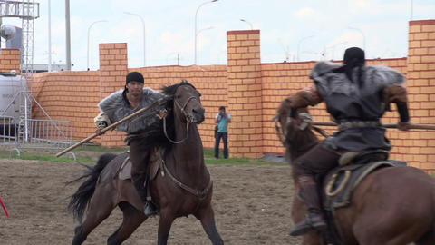 Duel Riders stock footage