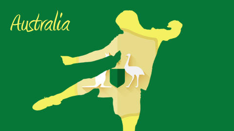 Australia world cup 2014 animation with player Animation