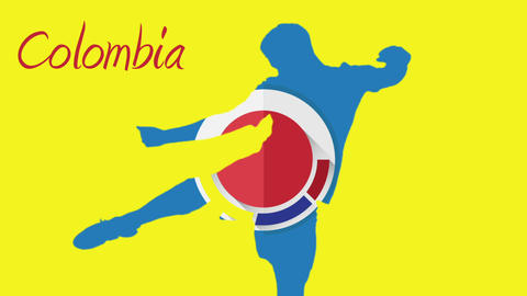Colombia world cup 2014 animation with player Animation