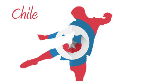 Chile world cup 2014 animation with player Animation