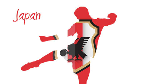Japan world cup 2014 animation with player Animation
