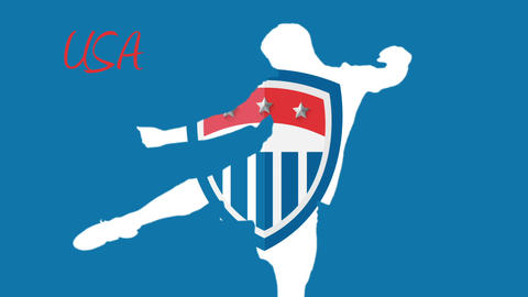 Usa world cup 2014 animation with player Animation