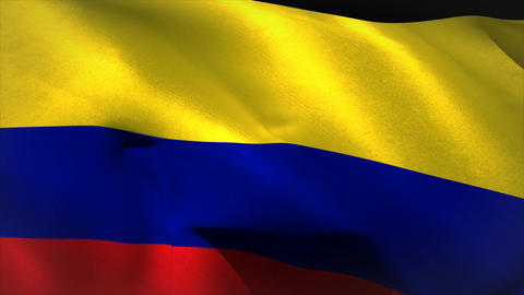 Digitally generated colombia flag waving Animation
