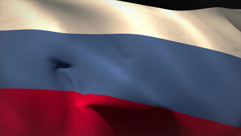 Digitally generated russia flag waving Animation