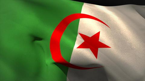 Digitally generated algeria flag waving Animation