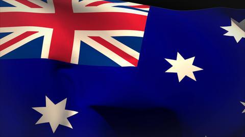 Digitally generated australia flag waving Animation