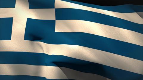 Digitally generated greece flag waving Animation