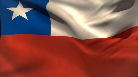 Large chile national flag waving Animation