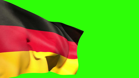 Large germany national flag blowing Animation