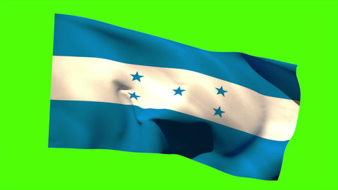 Honduras national flag blowing in the breeze Animation