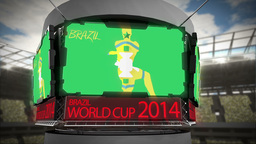 World cup 2014 animation in large stadium Animation