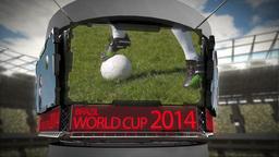 World cup 2014 animation in large stadium Animation
