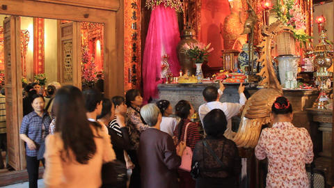 group of people ceremony in the temple, asia Footage