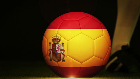 Football montage advertisement for spain Animation