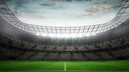 Lights flashing in large football stadium Animation