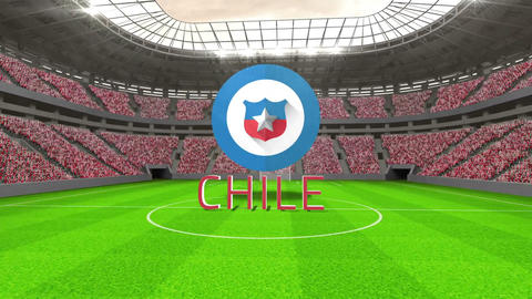 Chile world cup message with badge and text Animation