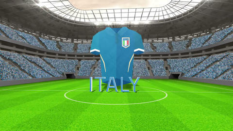 Italy world cup message with jersey and text Animation