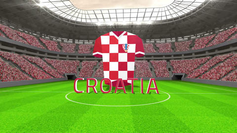 Croatia world cup message with jersey and text Animation