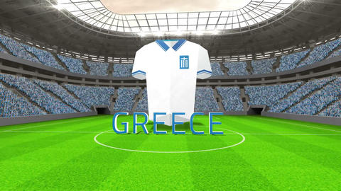 Greece world cup message with jersey and text Animation