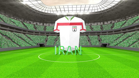 Iran world cup message with jersey and text Animation