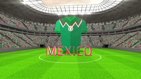 Mexico world cup message with jersey and text Animation