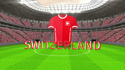 Switzerland world cup message with jersey and text Animation