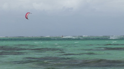 Stock Footage Kite Surfing Footage