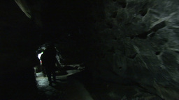 Walking in an Underground Cave Footage