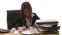 Stock Footage of a Frustrated Woman Footage