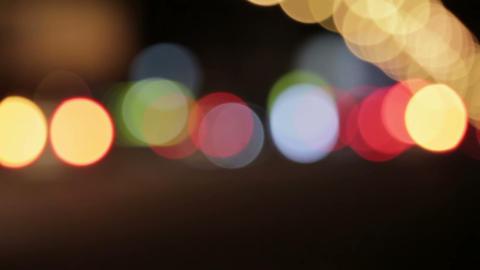 Night Traffic Lights HD Footage