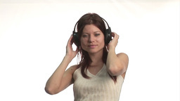 Woman listening to music and Dancing Footage