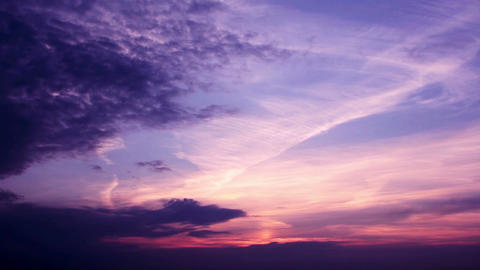 Romantic Sunset Clouds Time Lapse HD Footage