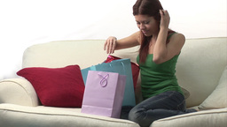 Attractive woman with Shopping Bags Footage