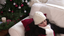 Woman with Christmas Presents Footage