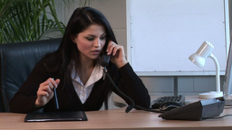 Businesswoman Working in Office Live Action