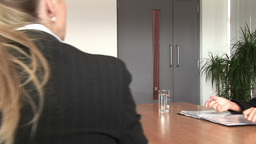Dolly Camera Business Meeting stock footage
