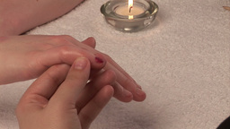 Woman Receiving a Manicure Footage